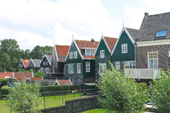 Houses on the island of Marken. Stock Photography