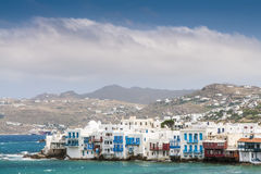 Houses of island Mykonos Stock Image