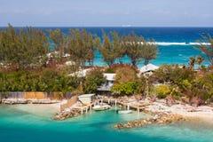 Island Houses Stock Photo