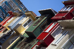 Houses of Istanbul, Turkey royalty free stock photo
