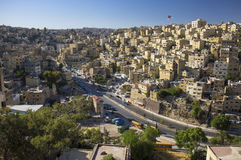 Houses in Jordan capital of Amman Stock Photos