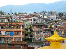 Houses in Kathmandu Stock Image