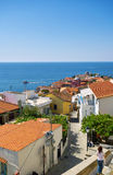 Houses in Kavala Greece. Scenic city of Kavala in Greece Stock Images