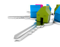 Houses on keys Royalty Free Stock Images