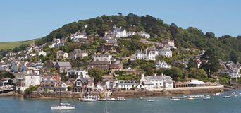 Houses in Kingswear, England. Stock Photo