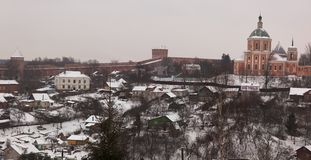 Houses and Kremlin wall. Smolensk. Russia. Royalty Free Stock Image