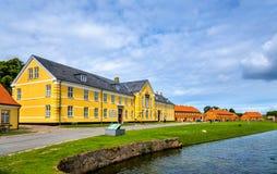 Houses at Kronborg Castle in Elsinore, Denmark Royalty Free Stock Photo