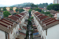 Houses in Kuala Lumpur city suburb Royalty Free Stock Photo