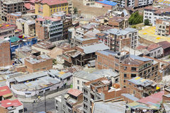 Houses of La Paz, Bolivia Royalty Free Stock Image