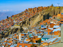 Houses of La Paz in Bolivia Royalty Free Stock Photo