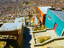 Houses of La Paz in Bolivia Stock Photo