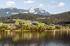 Houses on a lake Stock Photography