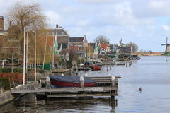 Houses on the lake at Zaanse Schans Stock Photography