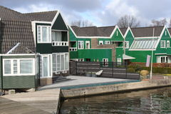 Houses on the lake at Zaanse Schans Stock Photos