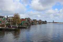 Houses on the lake at Zaanse Schans Royalty Free Stock Image