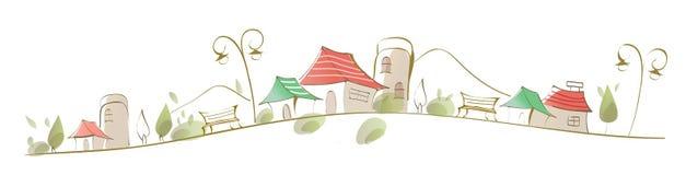 Houses on landscape Stock Image