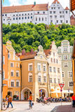 Houses in Landshut town Stock Images