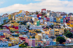 Houses las Palmas. Houses with a lot of color in Las Palmas stock photography