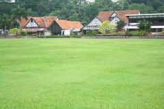 houses lawn royaltyfria bilder