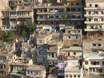houses lebanon gammala tripoli Arkivbilder