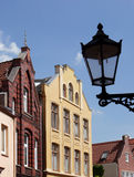 Houses in Leer, Germany. Street view of traditional houses in high street in Leer, Germany Royalty Free Stock Image