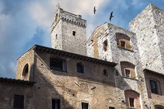 Houses like fortifications Royalty Free Stock Images