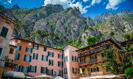 Houses in Limone sul Garda royalty free stock photos
