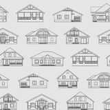 Houses linear pattern 1 Stock Images