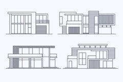 Houses linear 8 Stock Photos
