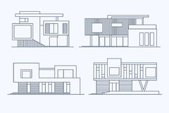 Houses linear 9 Stock Photography