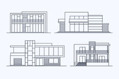 Houses linear 7 Stock Images
