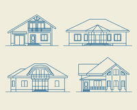 Houses linear 4 Stock Image