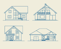 Houses linear 5 Royalty Free Stock Photo