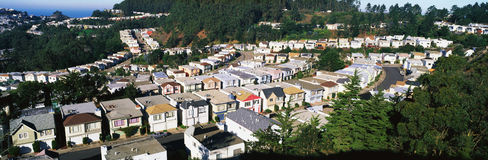 Houses lined up in rows Royalty Free Stock Photo