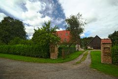Houses listed as monuments in Kirchdorf, Mecklenburg-Vorpommern, Germany Royalty Free Stock Photo