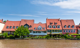 Houses at Little Venice, Bamberg Royalty Free Stock Photo