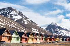 Houses in Lngyearbyen Royalty Free Stock Photography
