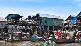 Houses of local people stay along the river Stock Images