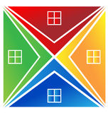 Houses logo Royalty Free Stock Images