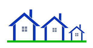 Houses logo. Stock Photo