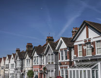 Houses in London, sunny day. Stock Photos