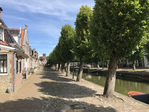 Houses a long the canal in Sloten Royalty Free Stock Images