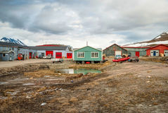 Houses in Longyearbyen, Svalbard - HDR photo Stock Images