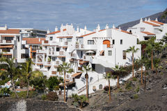 Houses in los gigantes on tenerife Royalty Free Stock Image