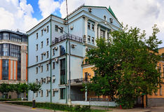 Houses with a lot of air conditioners on the facades. Moscow, Russia Royalty Free Stock Image
