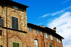 Houses in Lucca. A view of some of some of Lucca's houses, Italy royalty free stock photo