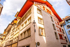 Houses in Lucerne city Royalty Free Stock Photography