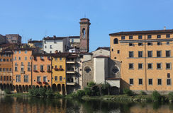 Houses of Lungarno, Florence, Tuscany, Italy Royalty Free Stock Images