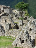 Houses at Machu Pichu in Peru Royalty Free Stock Image