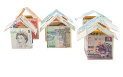 Houses Made From Currencies IV Stock Image